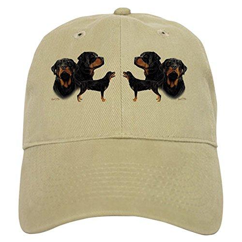 (CafePress Rottweiler Multi Mug Baseball Cap with Adjustable Closure, Unique Printed Baseball Hat Khaki)
