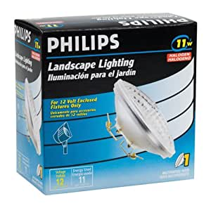 Philips 156836 Landscape Lighting 11Watt 12Volt Multipurpose Base PAR36  Landscape Path