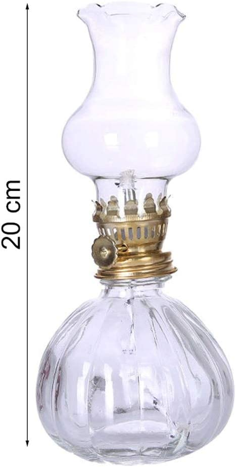 Color : Black GCMJ Hurricane Supplies Lanterns Oil Lamp with Glass Cover Great for Power Outages and Everyday Lighting 31cm