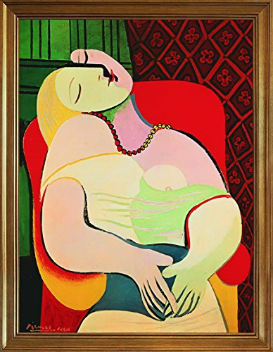 Berkin Arts Framed Pablo Picasso Giclee Canvas Print Paintings Poster Reproduction(Dream)