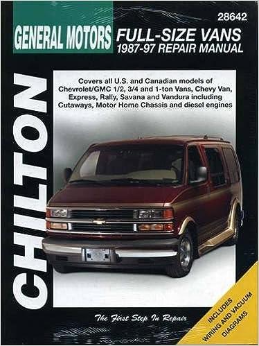 97 chevy suburban engine diagram chevrolet vans  1987 97  chilton total car care series manuals  chevrolet vans  1987 97  chilton total