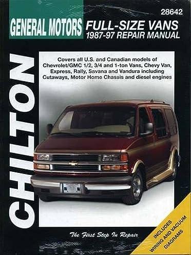 chevrolet vans 1987 97 chilton total car care series manuals rh amazon com 1993 Chevy G20 Conversion Van 1993 chevy g20 van repair manual