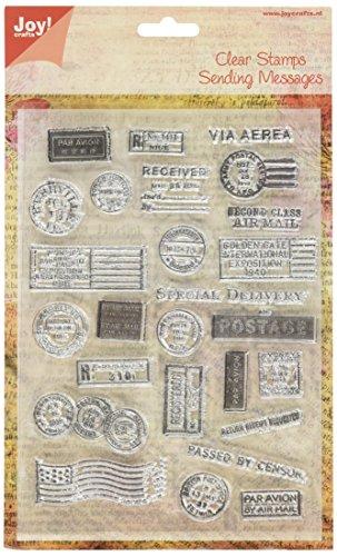 - Joy! Crafts Clear Stamp, 6 X 8-Inch, Postcard