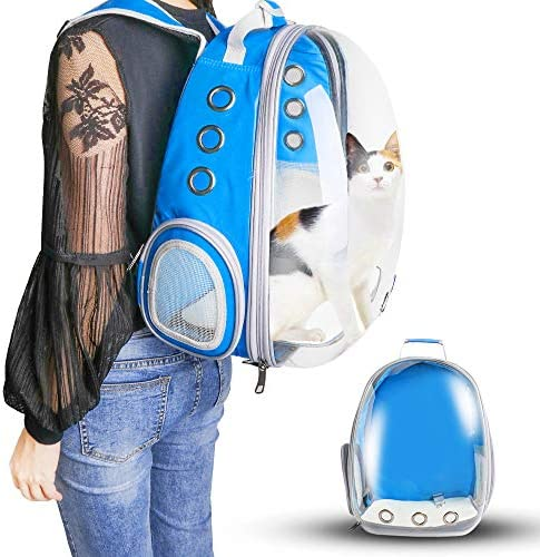 WANTKA Pet Carrier Backpack, Bubble Backpack Carrier, Cats and Small Dog Puppies,Airline-Approved, Designed for Travel Hiking WalkingOutdoor Use,Waterproof Pet Backpack