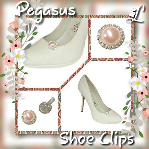 Damen La verschönern Loria Pegasus 2 zum Schmuck Schuhe Rosé Schuhclips Accessoires qA1xFA