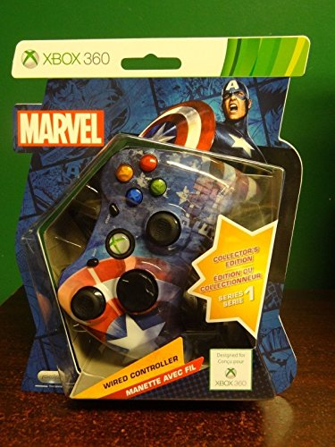 Rare Marvel Captain America Xbox 360 Collector's Edition Wired Controller Series 1