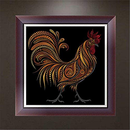 Woaills 5D Animals Embroidery Paintings, Art DIY Diamond Cross Craft Stitch Home Decor (A)