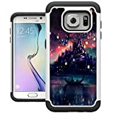 S7 Edge Case, Galaxy S7 Edge Cases, UrSpeedtekLive [Shock Absorption] Dual Layer Heavy Duty Protective Silicone Plastic Cover Case for Samsung Galaxy S7 Edge - The Lights