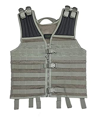 TAC Force Mesh Molle Vest, ACU Grey, One Size