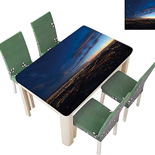 Printsonne Indoor/Outdoor Spillproof Tablecloth Phoenix City Lights at
