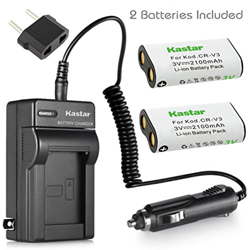 Kastar Battery 2-Pack and Charger for Canon PowerShot A60,70,75,300, Nikon Coolpix 600,700,800,950,990,2100,2200,3100,3200, Olympus, Pentax,Kodark, Sanyo, Digibino, Casion, Samsung Dig Max (560z Series)