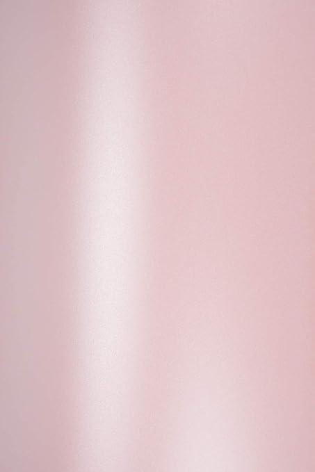 100 X Perlmutt Rosa 120g Papier Din A4 210x297mm Majestic