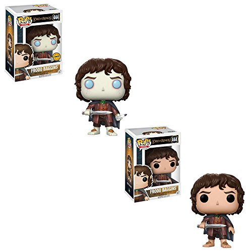 Funko POP! Movies The Lord of the Rings: Frodo Baggins LIMITED EDITION GLOW CHASE and Frodo Baggins NON CHASE Toy Action Figure - 2 POP BUNDLE