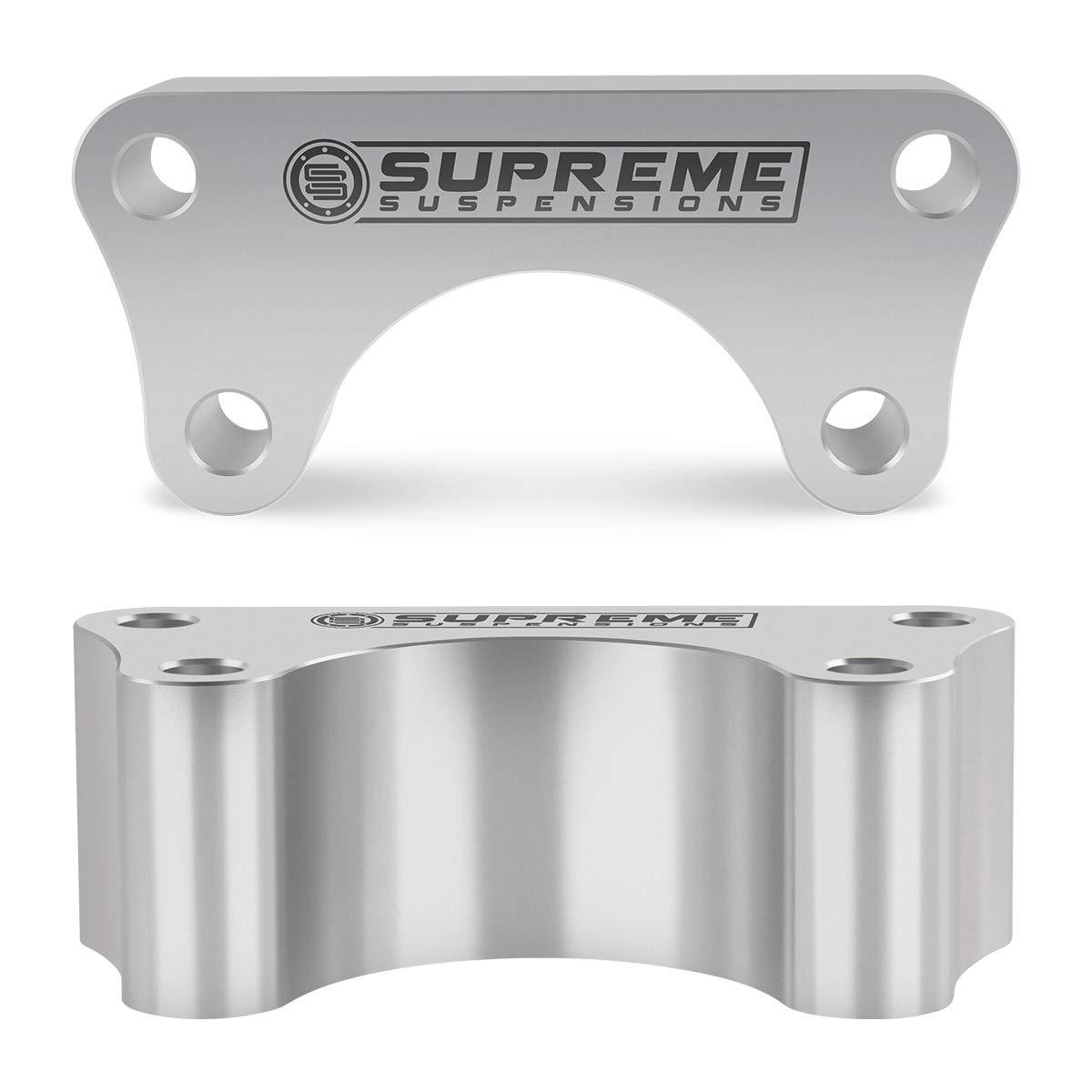 Supreme Suspensions Front Leveling Kit for Toyota IFS Pickup 3 Front Billet Spacers Suspension Leveling Lift Kit 2WD 4x2 Black
