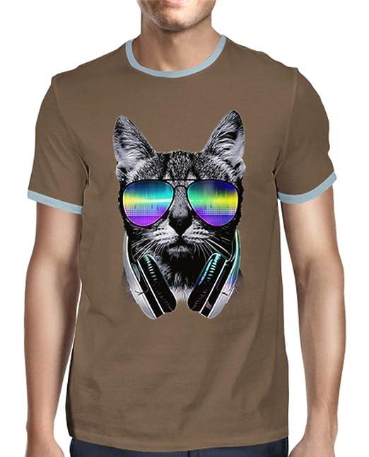 latostadora - Camiseta Gato Amante de la Msica para Hombre: clingcling247: Amazon.es: Ropa y accesorios