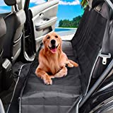 PETSGO Dog Seat Cover Car Seat Cover for Pets – Waterproof & Scratch Proof & Nonslip Backing – Durable & Premium Pet Seat Covers for Cars Trucks and SUVs – Black, Hammock Convertible