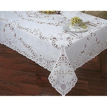 Amazon Com Lace Tablecloth Rectangle 60 Quot X 84 Quot Kitchen
