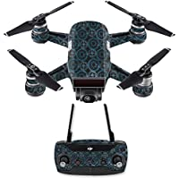 Skin for DJI Spark Mini Drone Combo - Compass Tile| MightySkins Protective, Durable, and Unique Vinyl Decal wrap cover | Easy To Apply, Remove, and Change Styles | Made in the USA