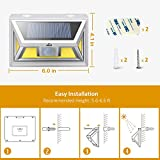 JUSLIT Solar Lights Outdoor, 74 COB LEDs Motion