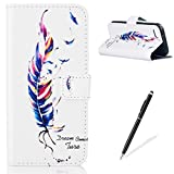 Apple iPhone 5C Case, Feeltech [Free Stylus] Premium Folding Flip Magnetic Stand PU Leather Wallet Case Full Body Protective Skin Card holder For Apple iPhone 5C -Colorful