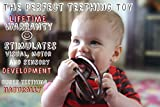 Bite Me Beads Baby Silicone Teething Football, Easy to Hold Teether, Sensory Toy