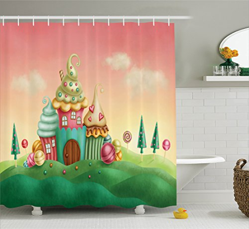 Ambesonne Teen Girls Decor Collection, Fantasy Houses from C