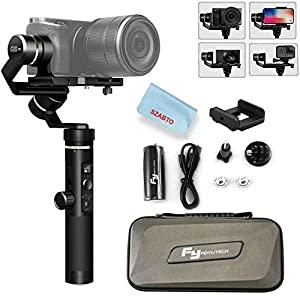 Feiyu G6 Plus 3-Axis Portable Handheld Gimbal Stabilizer (G6 Upgrade Ver 2018) for Gopro,Xiaomi,Yi Cam 4K,Sony Rx0,iPhone X 8 7 Plus,Samsung S9 S8,and Any Cameras Within 800g,Splash Proof 12H Runtime 14