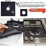 10 Pack Gas Stove Burner Covers, Non-Stick Stove
