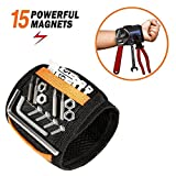 #10: Magnetic Wristband - JIANYI 15 Super Strong Magnets with Breathable Material, Adjustable Wrist Strap for Holding Screws Nails Bolts Drill Bits and Small Tools - Best Unique Tool Gift for DIY Handyman