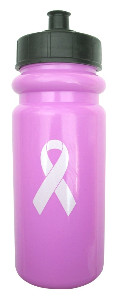 A&R Sports rosa cáncer conciencia botella de agua con tapón Push/Pull: Amazon.es: Deportes y aire libre