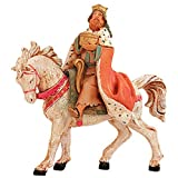 Fontanini MELCHOIR ON HORSE Figurine 5 Inch Series