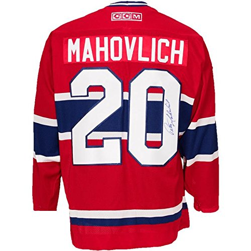 657d34345e4 Amazon.com: Autographed Peter Mahovlich Jersey - Autographed NHL Jerseys:  Sports Collectibles