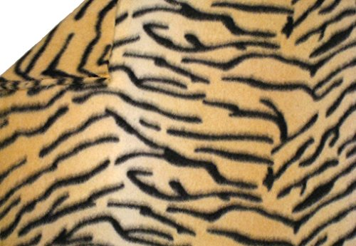 LA Linen Polar Fleece Fabric, 2.5-Yard by 58-Inch, Tiger Print ()