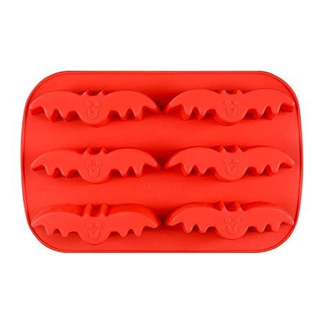 MolDe Silicona Reposteria Murciélago Pastel de Silicona MolDe de Hielo MolDe Diy Galletas Hornear MolDe Naranja
