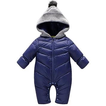 e7858f772f26 BOZEVON Newborn Baby Girls   Boys Fall Winter Plush Snowsuit Romper ...
