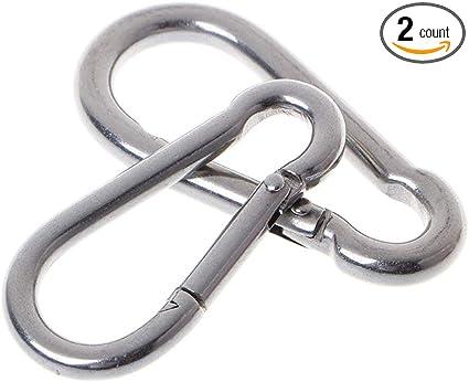 Carabiner Key Ring Alloy Metal Spring Locking Clip Chain Holder Keys Accessory *