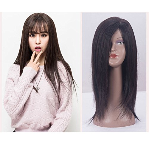 Remeehi Straight Human Hair Toppers Free Part Clip in Hair Top Piece Closure for Women(711;40cm) by Remeehi