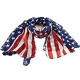 vintage american flag scarf - Vintage American Flag Scarf,Unisex Fashion Infinity Shawl,Fashion Soft Silk Chiffon Scarf
