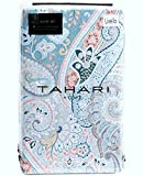 Tahari Home Duvet Quilt Cover Bohemian Style Moroccan Paisley Damask Medallion Print Cotton Sateen 3 Piece Bedding Set (Queen, Coral Ocean)