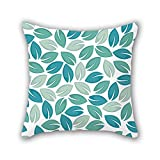 PILLO leaf pillow cases ,best for outdoor,kids room,car,drawing room,bedding,son 16 x 16 inches / 40 by 40 cm(both sides)