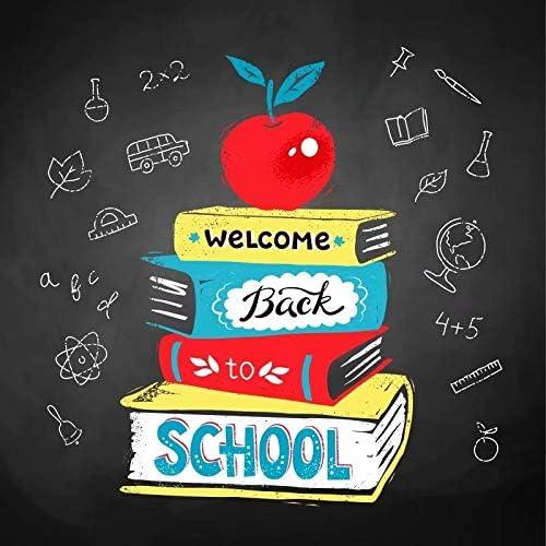 OFILA Kids Back to School Backdrop 6x6ft Classroom Blackboard Photos Background Books Children Back to School Day Photo Shoot Back to School Season Events Decor Props