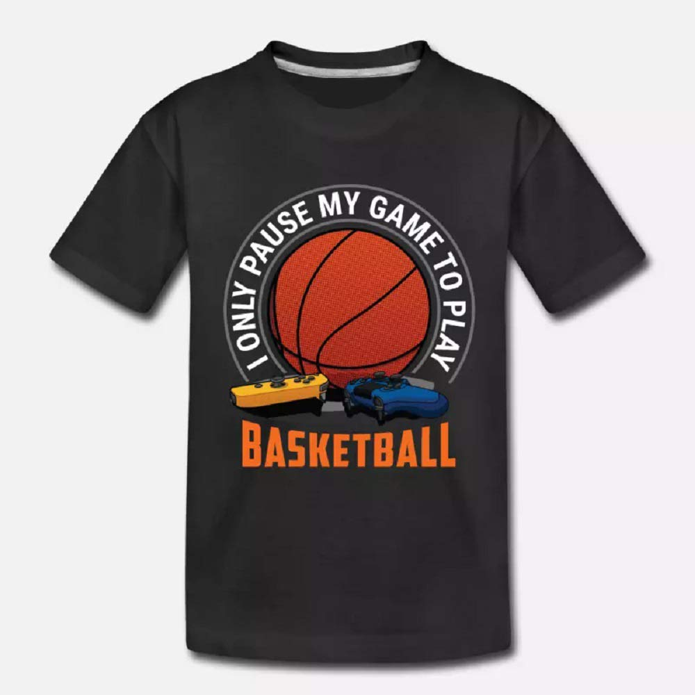 I Only Pause My Game To Play Basketball T Shirt For Funny Sleeve Tees