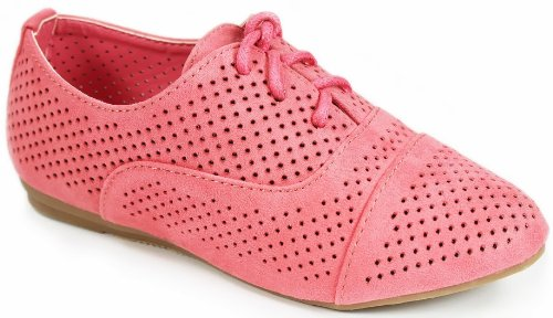 N35-Kids-Perforated-Lace-Up-Oxford-Loafer-Comfort-Breathable-Flat-Shoes