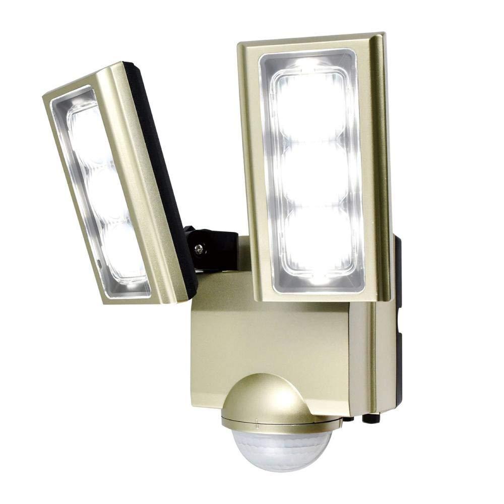 センサーが人や車の動きを検知して自動点灯。 ELPA(エルパ) 屋外用LEDセンサーライト AC100V電源(コンセント式) ESL-ST1202AC 〈簡易梱包 B07RP5KN99