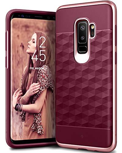 Trust Slimline Design - Caseology [Parallax Series] Galaxy S9 Plus Case - [Award Winning Design] - Burgundy/Rose Gold