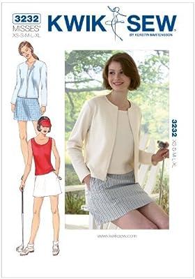 Kwik K3232 - Patrones de costura para falda (tamaño extra pequeño ...