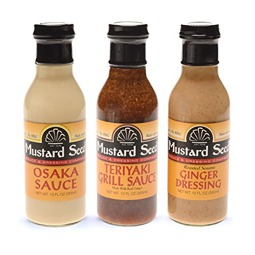 Mustard Sauce Lemon (Osaka-Teriyaki-Ginger Dressing Variety 3-Pack | All Natural, No Trans Fats, MSG's or Preservatives | (12 Oz/3-Pack)| Stir Fry | Marinade | Dipping Sauce)