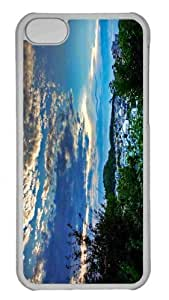 Customized iphone 5C PC Transparent Case - Waiting For The Sunset Personalized Cover