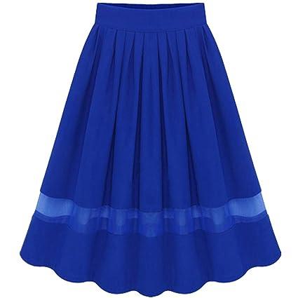 Moollyfox Mujer Faldas De Tul Evasé Plisada Largas De Fiesta con ...