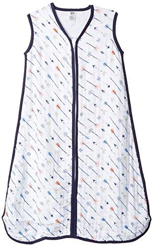 Hudson Baby Wearable Safe Sleep Muslin Sleeping Bag, Boy Arrows, 6-12 -